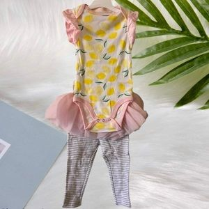 CLOUD ISLAND baby girl outfit 12M